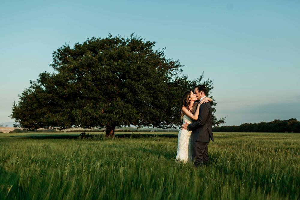 Couple in the fields at Brickendon