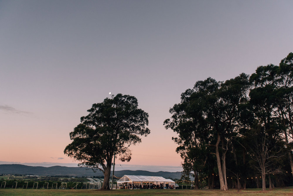 Clear marquee at Goaty Hill