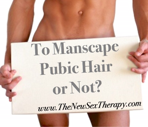 How to manscape pubic area