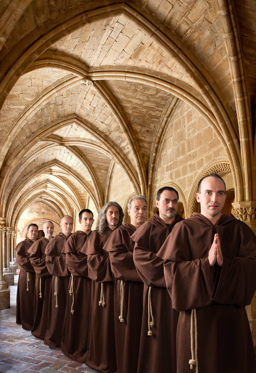 The Gregorian Voices, Plakatmotiv  Composing + Studioaufnahmen