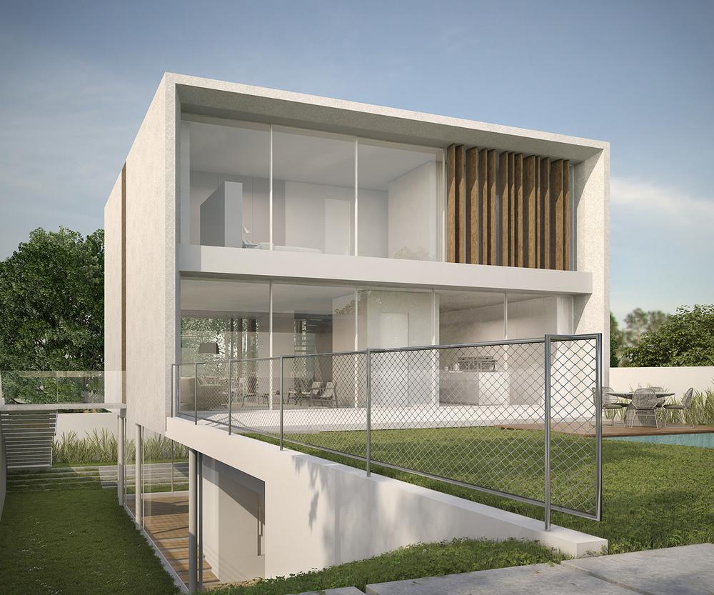 Hidden roof modern house for Modern house 6 part 3