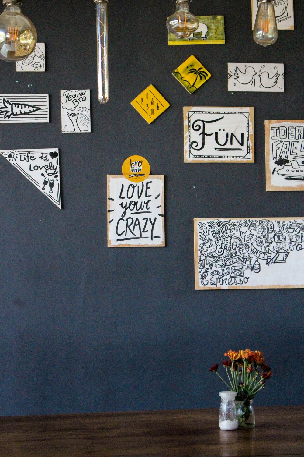 Love your crazy! Taken at Bro Resto in Bali