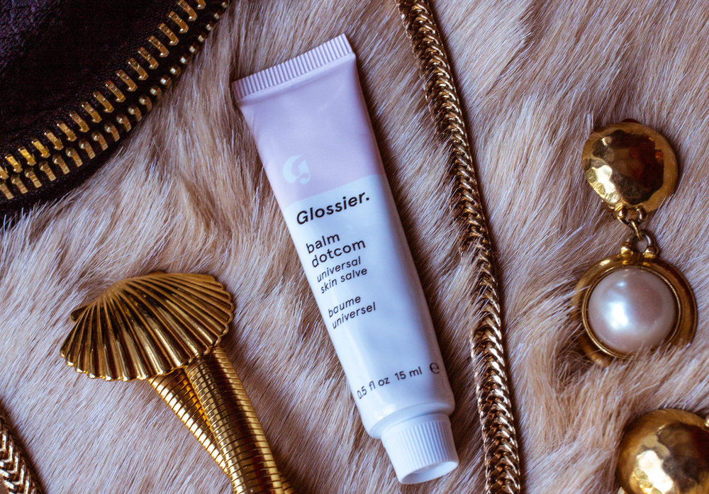 Glossier Balm Dotcom in Original, which is fragrance-free