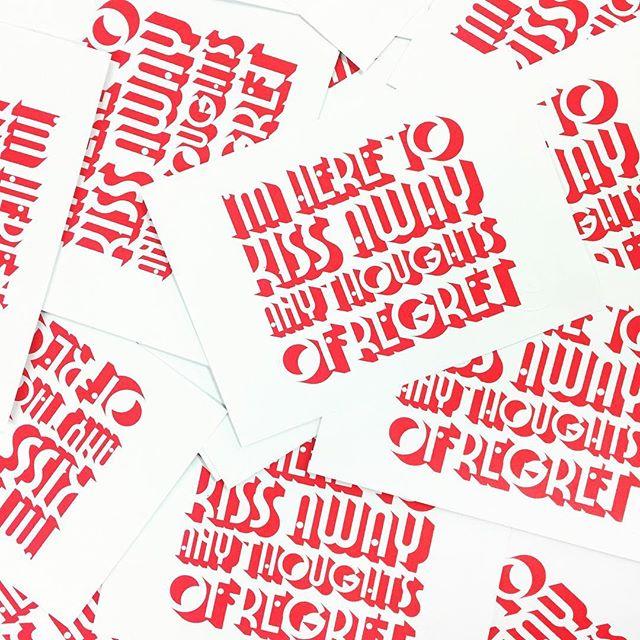 Screen printed kisses #postcards 💋