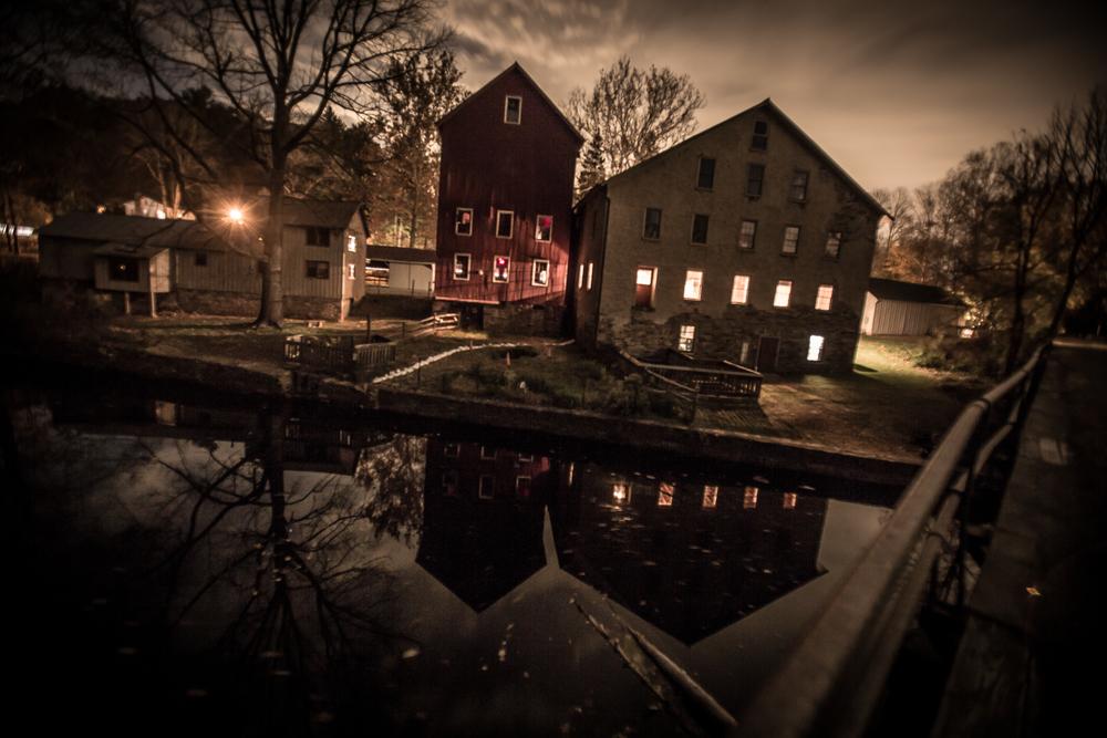 The Grist Mill at Night by Matt Pilsner