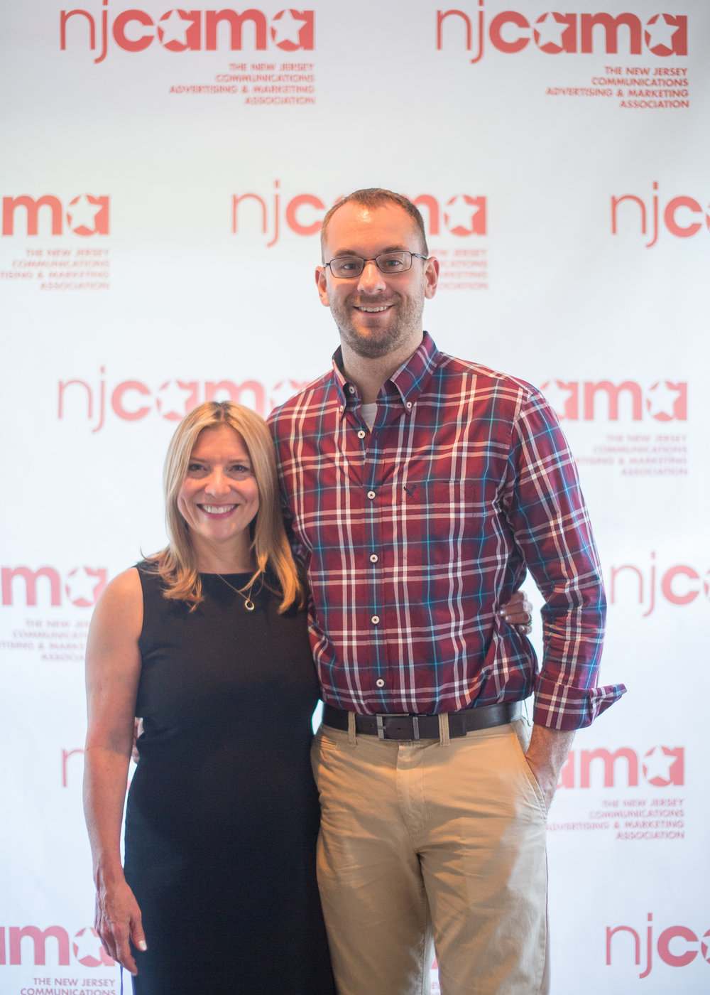 "Gail Rose and Matt Pilsner accept an ASTRA Award at the New Jersey Communications, Advertising and Marketing Association (NJCAMA) 2017 award ceremony.   Ananta won Silver Awards for ""Design/Advertising, Still Photography"" for ""The Prallsville Mills at Night,"" ""Excellence in Website Writing"" for Ananta Creative Group, and ""Multimedia Campaigns, Business-to-Consumer,"" for Dickson Development."