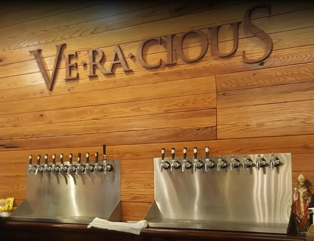 Veracious Brewing taproom taps.JPG