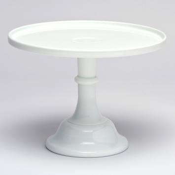 "12""White Milk Glass Stand"