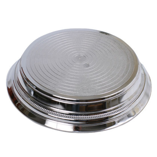 "14"" Napier Silver Round Cake Stand"