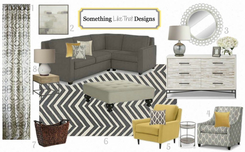 Moodboard Modern Living Room Something Like That Designs