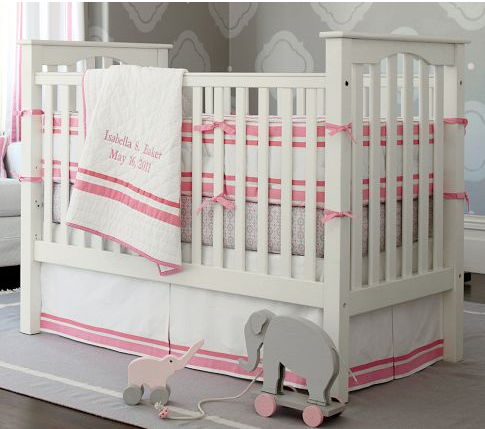 pottery barn kendall crib white 3