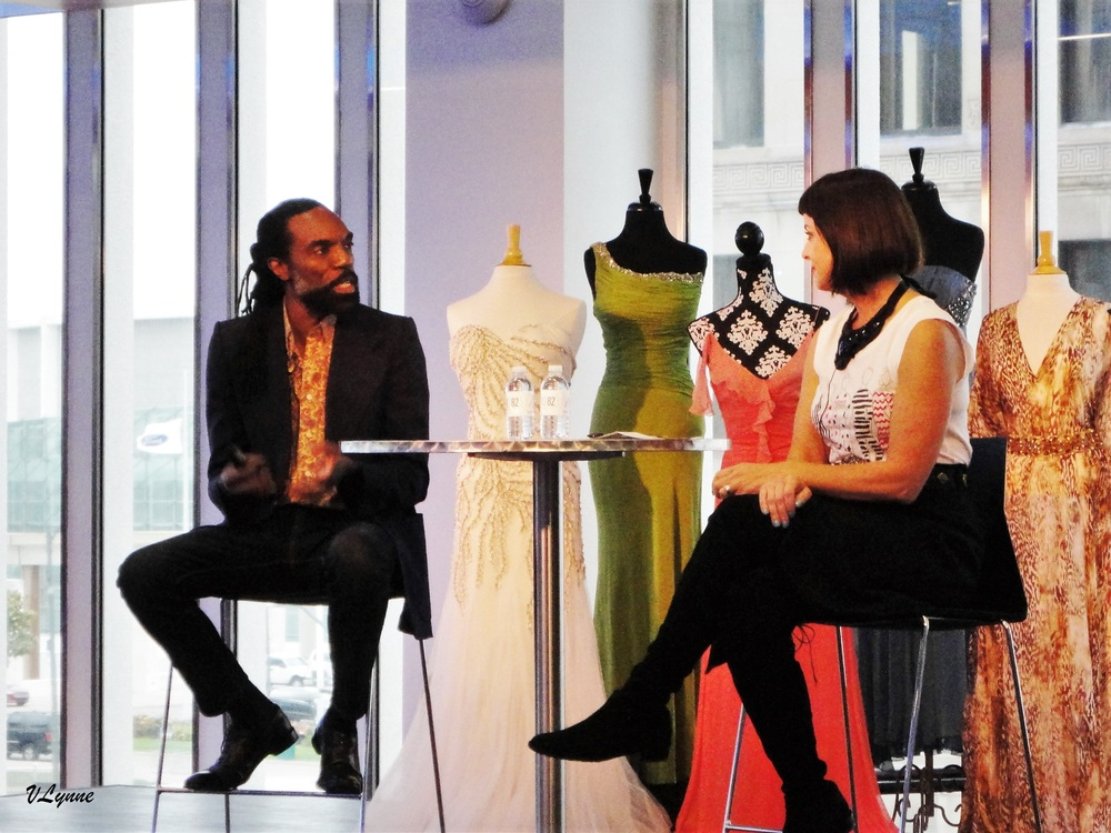 Fashion Designer Kevan Hall and Karen Buscemi, founder of Detroit's Garment Guild at Fashion Speak 2015.