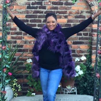 Purple Faux Fur Vest, Knit Sew Fabulous