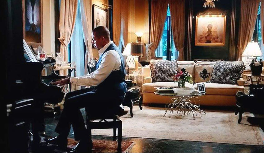 "Actor Terence Howard playing the Shadd WMS 5'10"" Baby Grand on Season 2, Episode 3 of  Empire ."