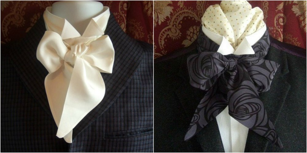 A Cravat which was the predecessor to the bow tie
