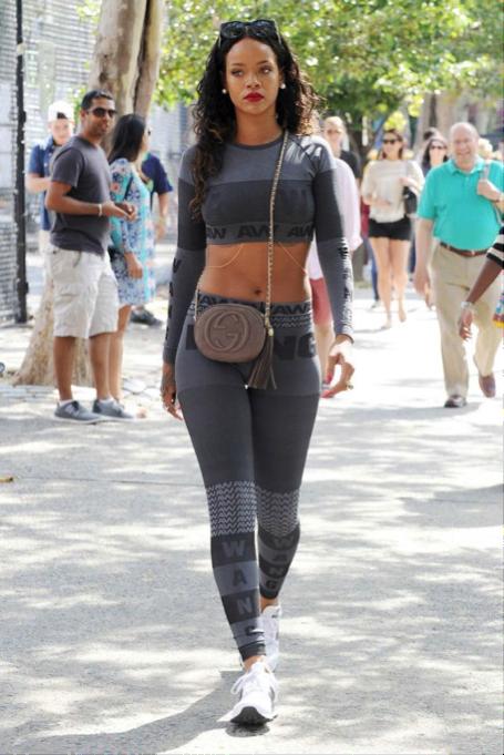 Rihanna in Alexander Wang.