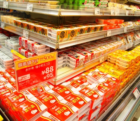Supermarket natto varieties