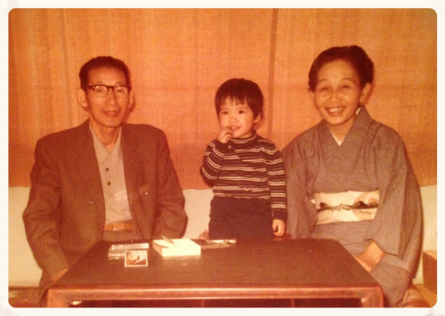 Shikoku, Japan circa early 1970s: me with my paternal grandparents
