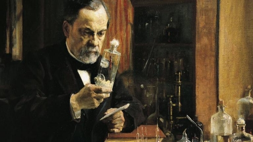 Louis Pasteur (1822-95), great French microbiologist whose discoveries led to the germ theory of disease, vaccination, and pasteurization (4).