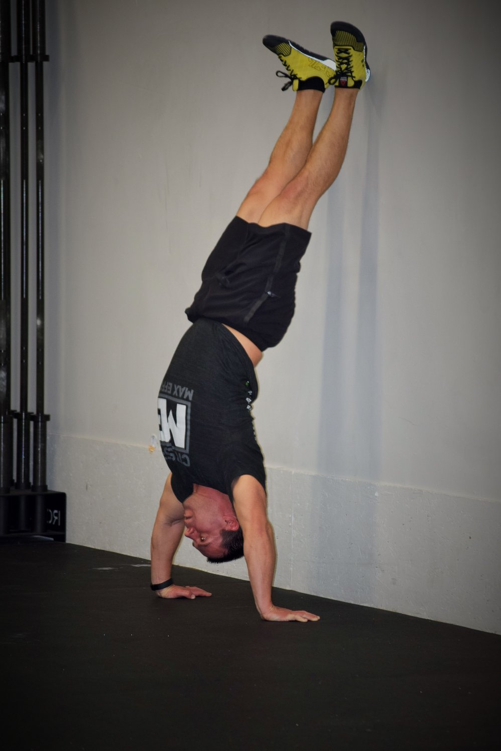 Dan doing a handstand push-up