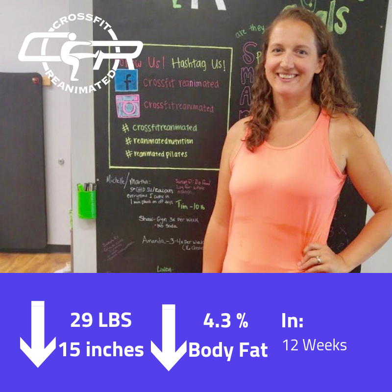 Carrie at 29lbs in Just under 3 Months! All this by eating Real Food. Now she's down a total of 40lbs!