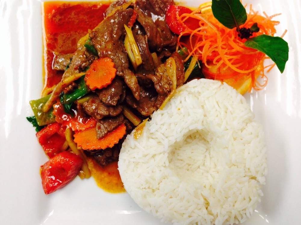 L. Spicy Beef with Steamed Rice