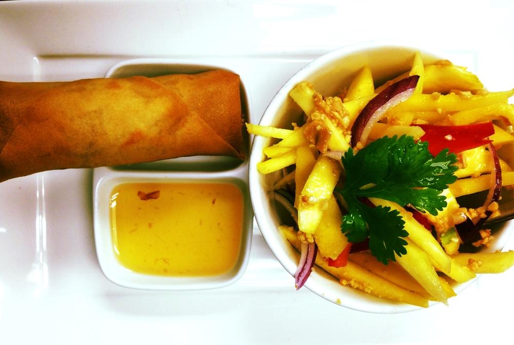 Mango Salad & Spring Roll