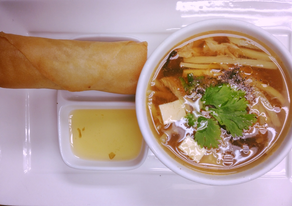 Hot & Sour Soup and Spring Roll