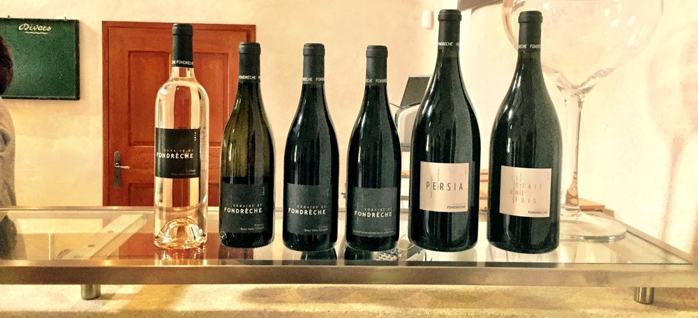 Our tasting lineup at the winery.