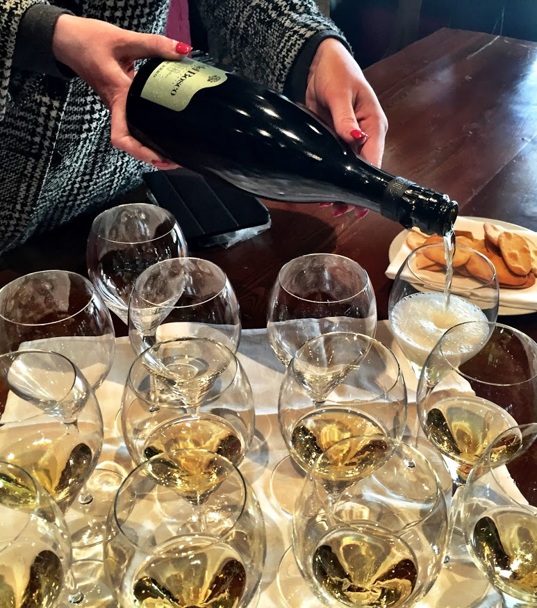 Tasting at Ca' Del Bosco, April 2015