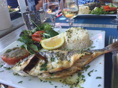Fresh caught Dorade in Cassis - Provence Trip, June 2016