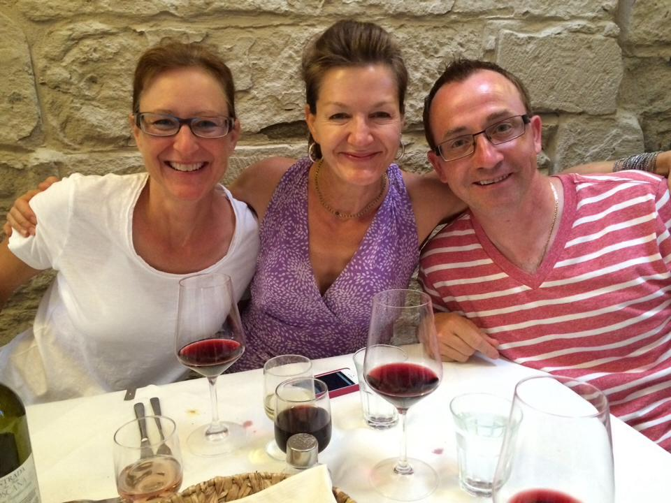 Kerry, Me & Antonio, June 2014 Tuscany Trip