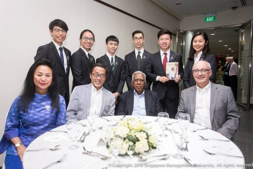 Ambassadors at the late Mr. S.R. Nathan's book launch  Photo Credit: Singapore Management University