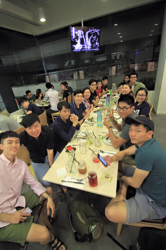 Dinner gathering during the 13th Batch's Retreat, 2015
