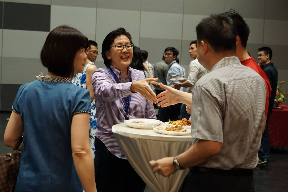 Mingling during Parents' Day