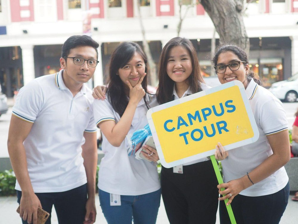 Ambassadors hosting tours during Open House