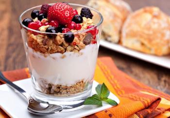 http://www.vegkitchen.com/recipes/fruit-and-yogurt-parfaits/