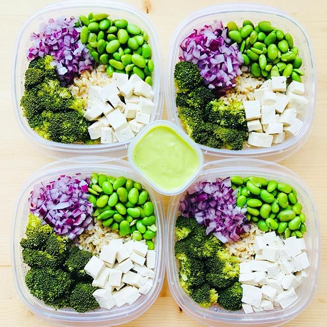 For those of you who are snowed in, or even if youre trapped inside where is cool... meal prep is a great weekend activity that pays huge dividends all week long. - Great vegan prep by @cleanbeanie with Green Bean Buddha Bowls: 1. Steamed brown rice for your base 2. Steamed broccoli 3. Edamame (you buy them in frozen bags) 4. Chopped red onion 5. Organic tofu 6. @minimalistbaker cilantro lime dressing (google how to make it, it takes like 5 mins) - 👇ALL-IN-ONE TOOL & GUIDES👇 - 🔮 Build Custom Plans & Set Nutrition Goals 📐 BMR, BMI, & Max Rate Calculator 🏁 Learn Your Macros by Body Type & Goal 📝 Grocery Lists Automated to Weekly Needs 🎯 Accurate Cooking and Prep Summaries 👫 Combine & Export Data for Two Plans 📈 Track Your Progress & Daily Allowance 🍐 Food Lists for Clean Eating 🍋 Database of Over 7,500+ Foods 💤 Sleep and Mealtime Planner 🔪 Account for What's in Your Kitchen ✂️ Adjust for Yield Percentage of Food ❓ Help Center & Training Videos Included ⏰ Reduce Plan and Prep Time 💸 Save on Groceries 🔑 Unlock Your Full Potential 💪 Accelerate Fat Loss and Muscle Gain 📒 Meal Plan Templates and Guides 🍴 Meal Prep Containers And Prep Essentials - Click the link in our bio to download now and get everything you need to meal plan and meal prep. - ▶️ @mealplanmagic ◀️ ▶️ @mealplanmagic ◀️ - Share your images by tagging us or using #MealPlanMagic - #mealplan #mealprep #fitfood #mealprepping #preplife #cleaneating #mealplans #cleaneats #foodporn #transformation #mealprepmonday #eatclean #mealprepsociety #macros #foodprep #fitfoodie #eattherainbow #bodymotivation
