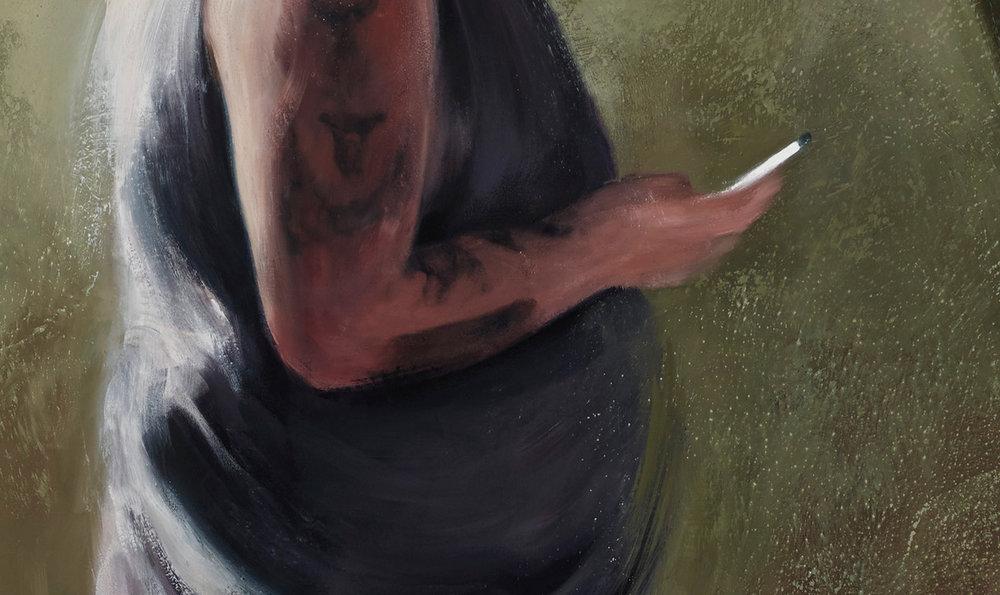 """detail of """"Man Texting"""""""
