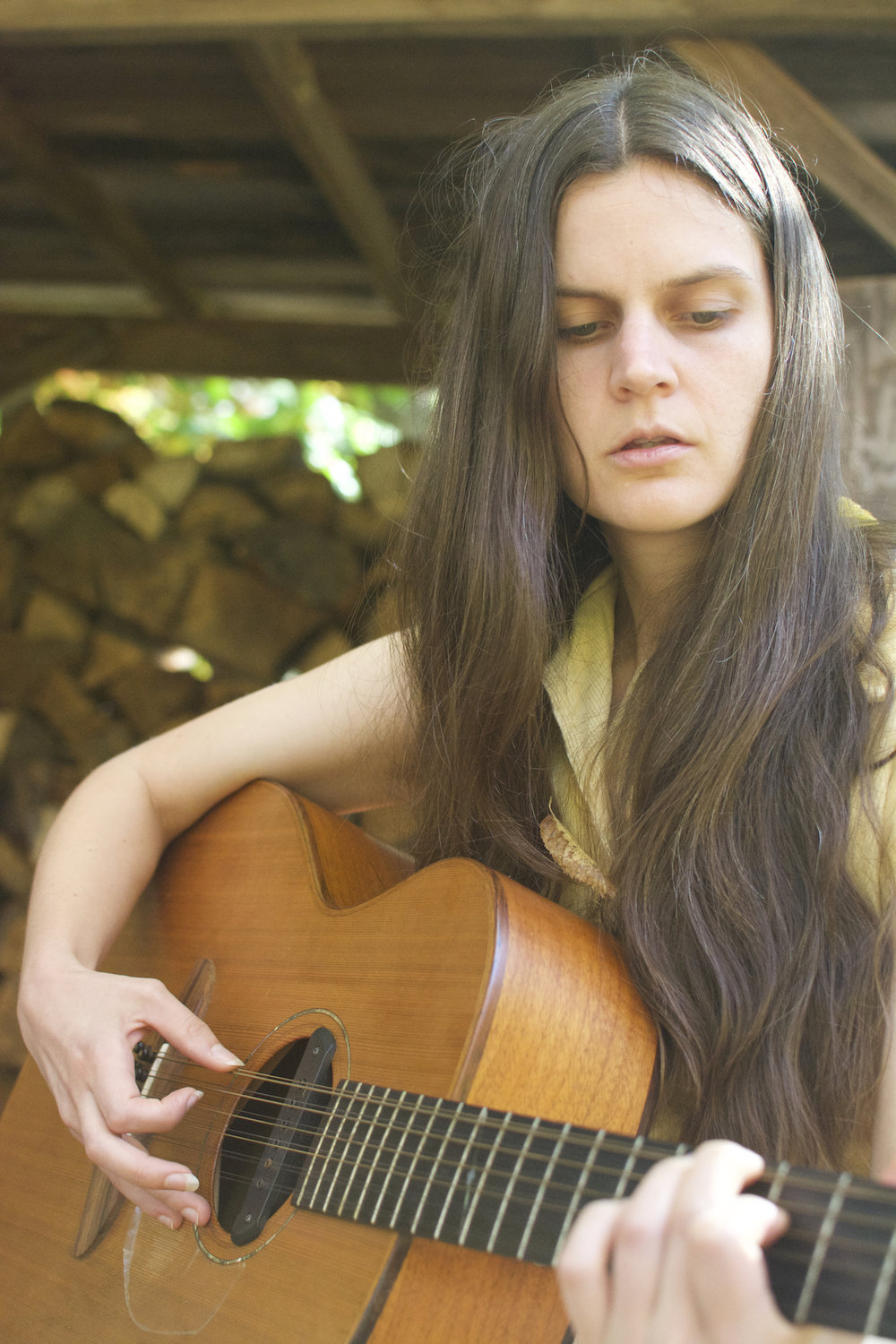 """Sarah Louise - Louise, an avid naturalist and forager, draws from the guidance that the natural world provides. Whereas portrayals of women in nature are often demeaning and powerless, a folk waif, Louise uses songs such as """"Pipevine Swallowtails"""" to reframe them more powerfully. By reframing traditional music styles and lyricism with a feminist stance, Deeper Woods blends the spiritual with the cerebral. Sarah Louise is actively blending natural themes with explorations of complex emotions. The Appalachian valley is the setting for her stories of independence, solitude, and awe. """"Bowman's Root"""" and """"Fire Pink And Milkweed"""" take their names from plants that grow on the edges of meadows, reflecting the album's central theme of liminality. These liminal spaces and complicated emotions are made ever clearer by Louise's nuanced performances and arrangements, with subtle melodic flares and delicate, sometimes dramatic, shifts in atmosphere."""