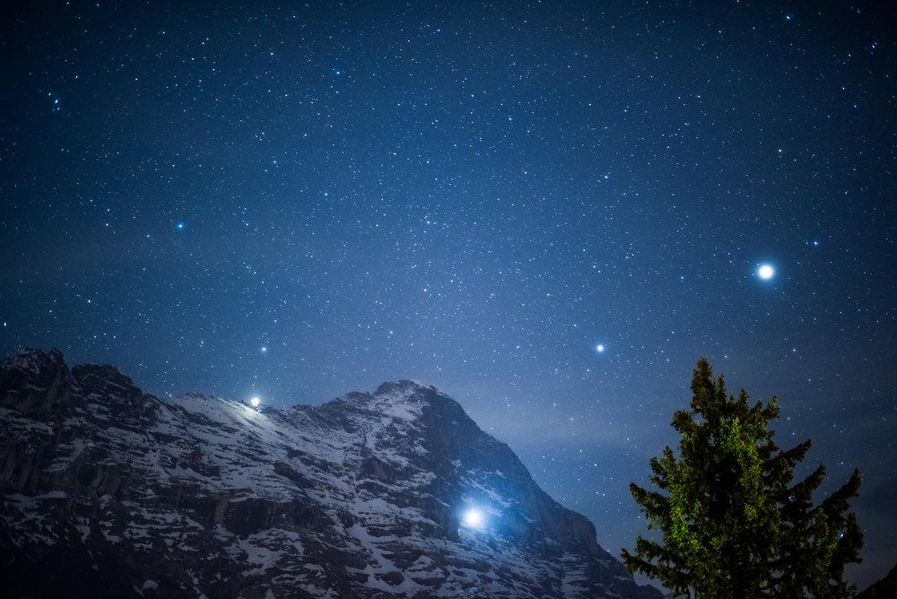 Eiger with Jupiter, Grindelwald, Switzerland (2017)