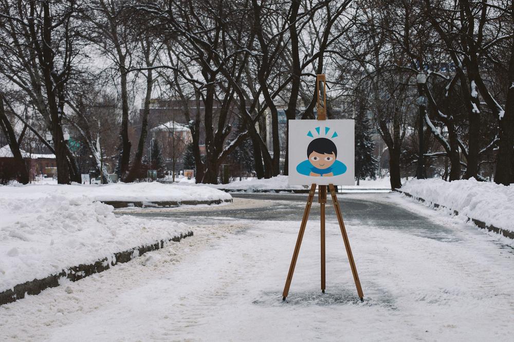 Respect 🙇   Acrylic,canvas,40  ×  40 cm. December 2014