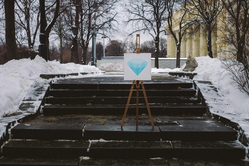 Brilliant 💎   Acrylic,canvas,40  ×  40 cm. February 2015