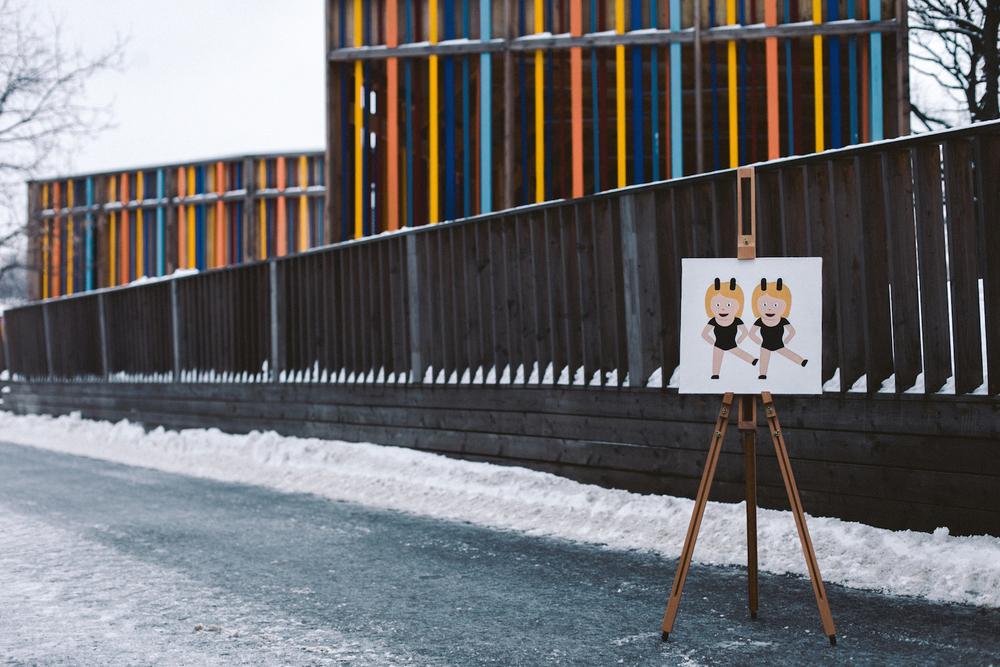 Friendship 👯   Acrylic,canvas,40  ×  40 cm. February 2015.