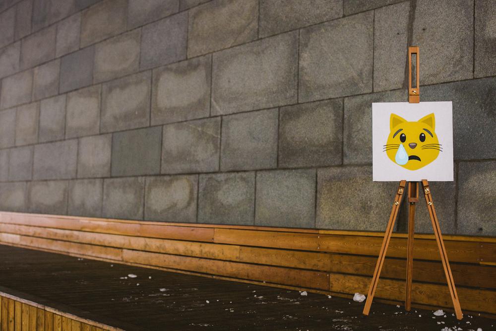 Sadness 😿   Acrylic,canvas,40  ×  40 cm. November 2014