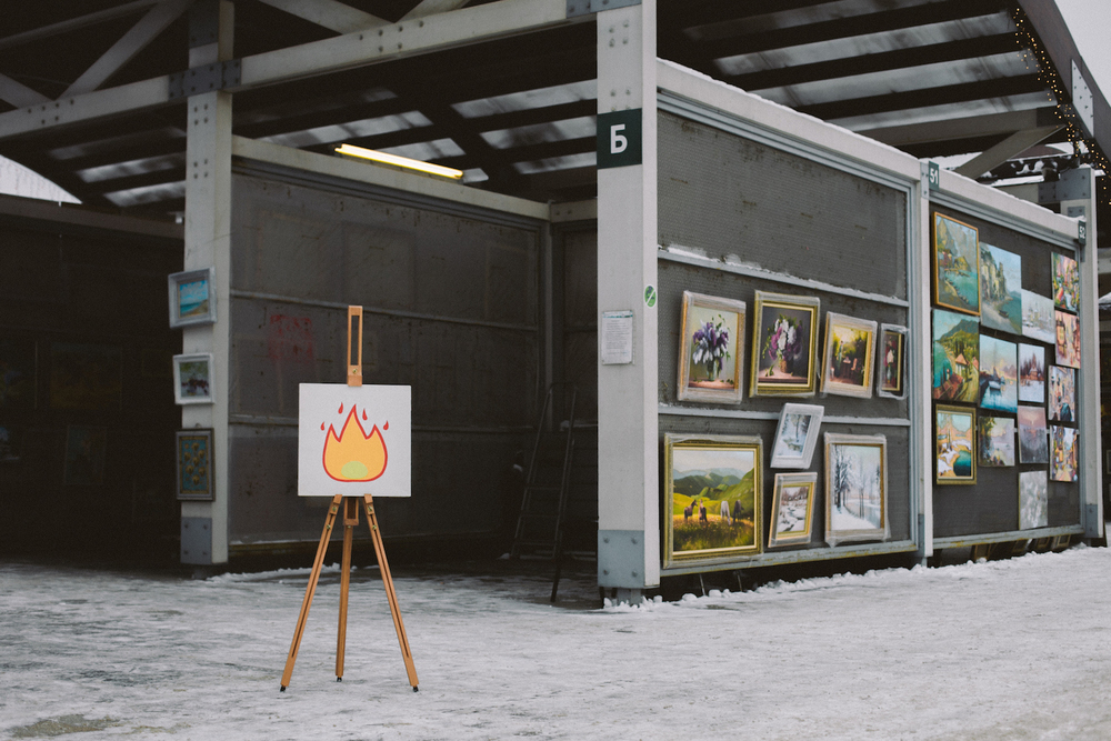 Anger 🔥   Acrylic,canvas,40  ×  40 cm. December 2014