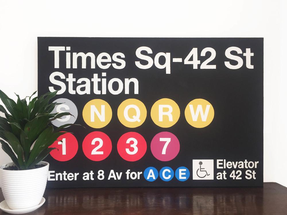 New York, 2014. Acrylic, canvas, 90x60cm.
