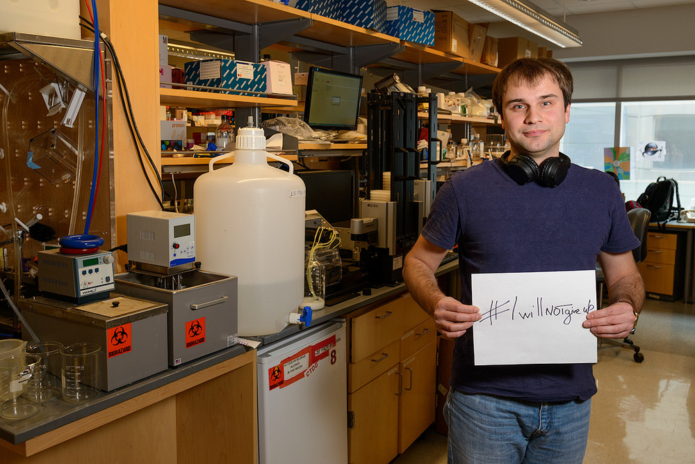Andrew: I am trying to isolate and study human antibodies that kill Ebola virus.
