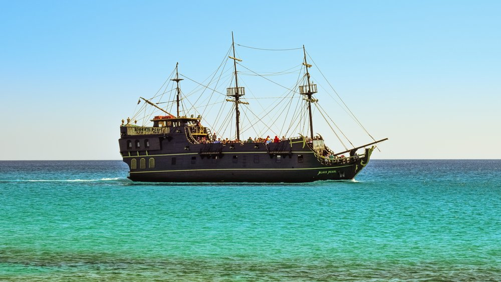 You won't find pirates on ships like this nowadays.