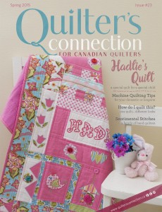 Cover quilt, Hadlie's Quilt by Kim Hanson hoto courtesy of quiltersconnection.ca